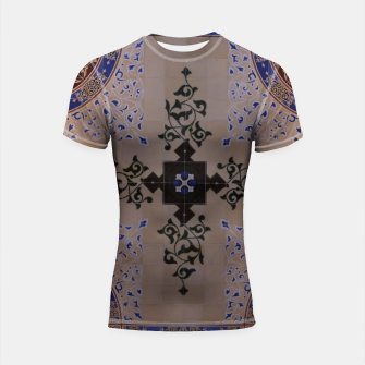 Ornamental Tiled Ceiling Geometric Pattern Shortsleeve rashguard thumbnail image