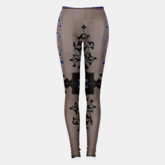 Ornamental Tiled Ceiling Geometric Pattern Leggings thumbnail image