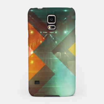 Thumbnail image of 70s Orange Abstract Techno Triangles Samsung Case, Live Heroes