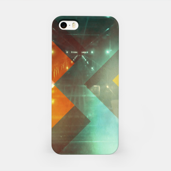 Thumbnail image of 70s Orange Abstract Techno Triangles iPhone Case, Live Heroes