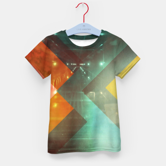 Thumbnail image of 70s Orange Abstract Techno Triangles Kid's t-shirt, Live Heroes