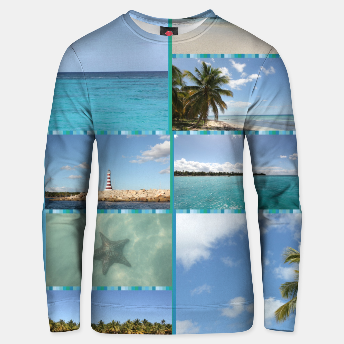 Image of Great Tropical Paradise Caribbean Photo Collage Unisex sweater - Live Heroes