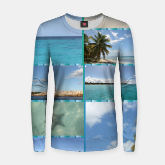 Miniatur Great Tropical Paradise Caribbean Photo Collage Women sweater, Live Heroes