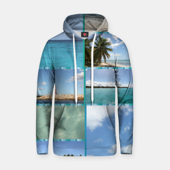 Thumbnail image of Great Tropical Paradise Caribbean Photo Collage Hoodie, Live Heroes