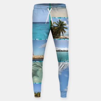 Miniaturka Great Tropical Paradise Caribbean Photo Collage Sweatpants, Live Heroes