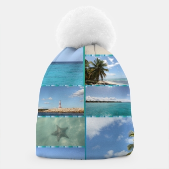 Thumbnail image of Great Tropical Paradise Caribbean Photo Collage Beanie, Live Heroes
