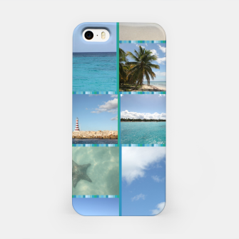 Thumbnail image of Great Tropical Paradise Caribbean Photo Collage iPhone Case, Live Heroes