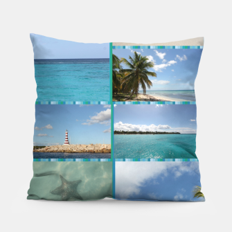 Imagen en miniatura de Great Tropical Paradise Caribbean Photo Collage Pillow, Live Heroes