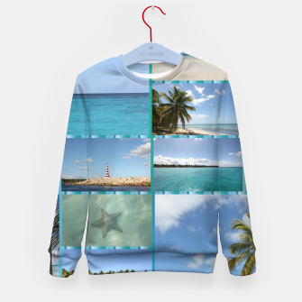 Thumbnail image of Great Tropical Paradise Caribbean Photo Collage Kid's sweater, Live Heroes