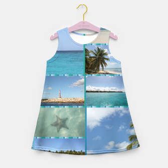 Thumbnail image of Great Tropical Paradise Caribbean Photo Collage Girl's summer dress, Live Heroes