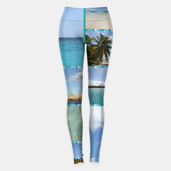Thumbnail image of Great Tropical Paradise Caribbean Photo Collage Leggings, Live Heroes
