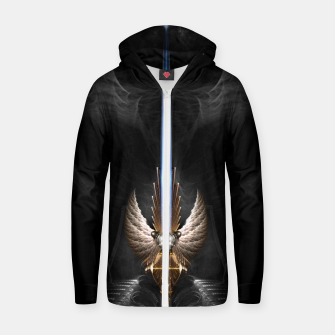 Thumbnail image of Angel Wing Sword Of Arkledious DGS Zip up hoodie, Live Heroes