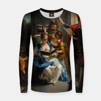 Miniatur A Quartet In Concert by Jean Raoux Women sweater, Live Heroes