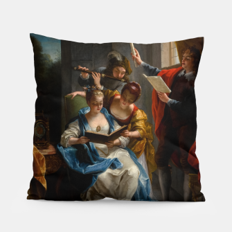 A Quartet In Concert by Jean Raoux Pillow thumbnail image
