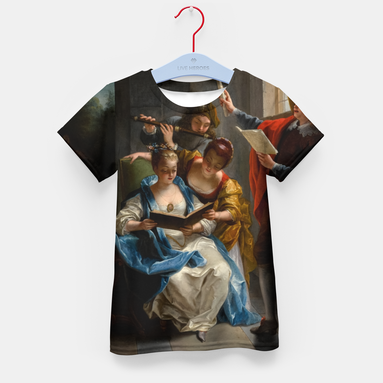 Image of A Quartet In Concert by Jean Raoux Kid's t-shirt - Live Heroes