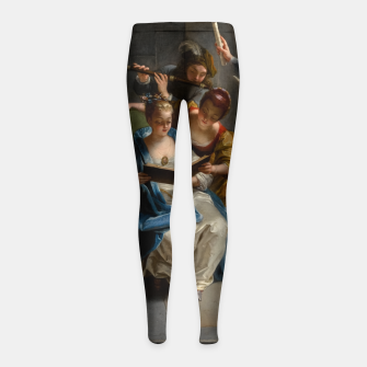 A Quartet In Concert by Jean Raoux Girl's leggings thumbnail image