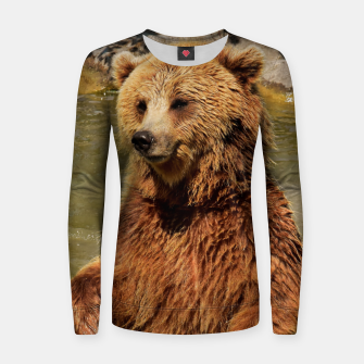 Miniatur Brown Bear Women sweater, Live Heroes