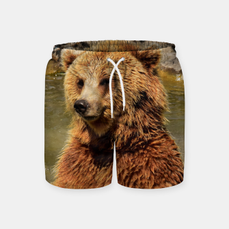 Thumbnail image of Brown Bear Swim Shorts, Live Heroes