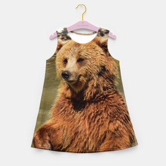 Thumbnail image of Brown Bear Girl's summer dress, Live Heroes