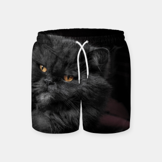 Thumbnail image of Angry Black Cat Swim Shorts, Live Heroes