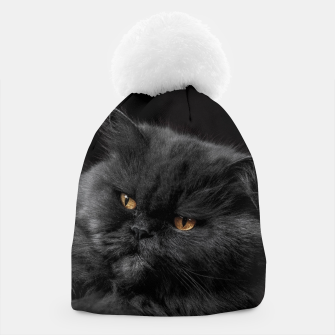 Thumbnail image of Angry Black Cat Beanie, Live Heroes