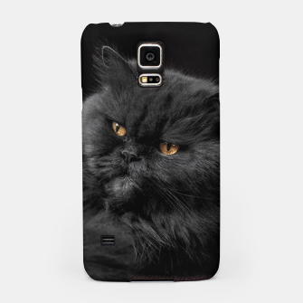 Thumbnail image of Angry Black Cat Samsung Case, Live Heroes