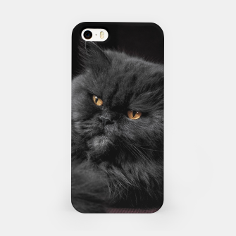 Thumbnail image of Angry Black Cat iPhone Case, Live Heroes