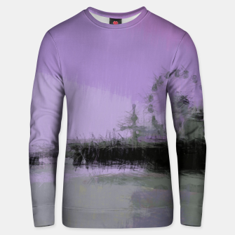 Thumbnail image of Abstract Purple and Grey Shades Santa Monica Pier Unisex sweater, Live Heroes