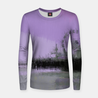 Miniatur Abstract Purple and Grey Shades Santa Monica Pier Women sweater, Live Heroes
