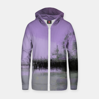Thumbnail image of Abstract Purple and Grey Shades Santa Monica Pier Zip up hoodie, Live Heroes