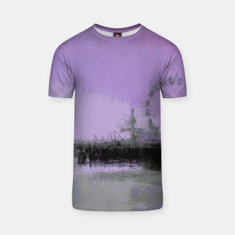 Thumbnail image of Abstract Purple and Grey Shades Santa Monica Pier T-shirt, Live Heroes