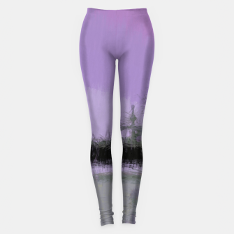 Thumbnail image of Abstract Purple and Grey Shades Santa Monica Pier Leggings, Live Heroes