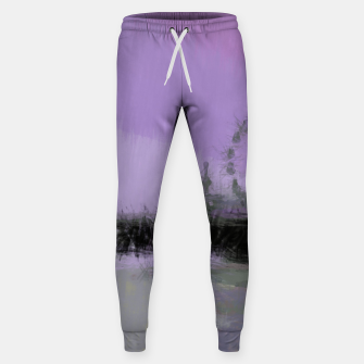 Thumbnail image of Abstract Purple and Grey Shades Santa Monica Pier Sweatpants, Live Heroes