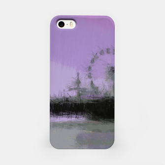 Miniaturka Abstract Purple and Grey Shades Santa Monica Pier iPhone Case, Live Heroes