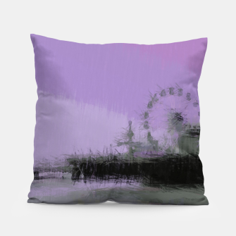 Imagen en miniatura de Abstract Purple and Grey Shades Santa Monica Pier Pillow, Live Heroes