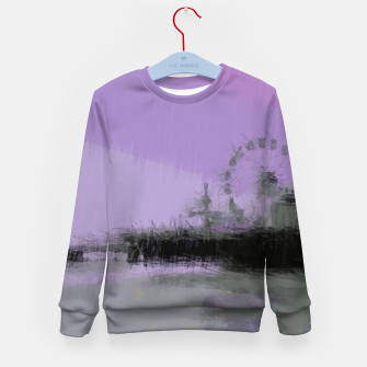 Thumbnail image of Abstract Purple and Grey Shades Santa Monica Pier Kid's sweater, Live Heroes