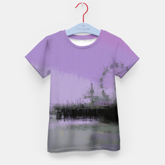 Thumbnail image of Abstract Purple and Grey Shades Santa Monica Pier Kid's t-shirt, Live Heroes