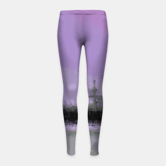 Miniaturka Abstract Purple and Grey Shades Santa Monica Pier Girl's leggings, Live Heroes