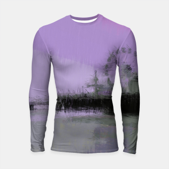 Thumbnail image of Abstract Purple and Grey Shades Santa Monica Pier Longsleeve rashguard , Live Heroes