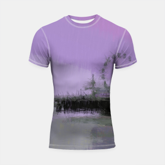Thumbnail image of Abstract Purple and Grey Shades Santa Monica Pier Shortsleeve rashguard, Live Heroes
