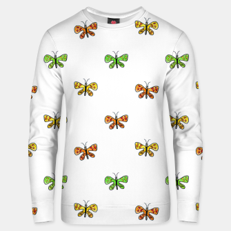 Thumbnail image of Butterfly Cartoon Drawing Motif  Pattern Unisex sweater, Live Heroes