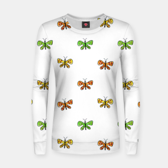 Miniatur Butterfly Cartoon Drawing Motif  Pattern Women sweater, Live Heroes