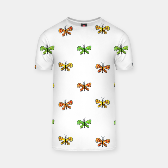 Thumbnail image of Butterfly Cartoon Drawing Motif  Pattern T-shirt, Live Heroes