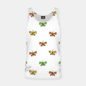 Imagen en miniatura de Butterfly Cartoon Drawing Motif  Pattern Tank Top, Live Heroes