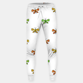 Miniaturka Butterfly Cartoon Drawing Motif  Pattern Sweatpants, Live Heroes