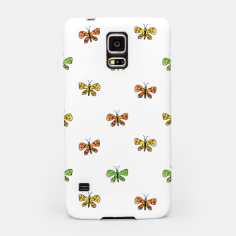 Imagen en miniatura de Butterfly Cartoon Drawing Motif  Pattern Samsung Case, Live Heroes