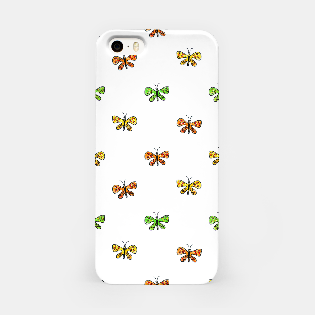 Image of Butterfly Cartoon Drawing Motif  Pattern iPhone Case - Live Heroes