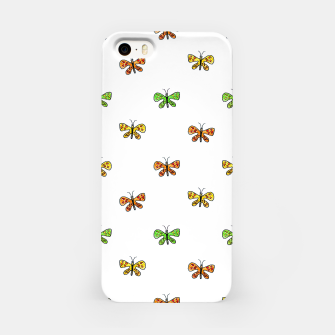 Thumbnail image of Butterfly Cartoon Drawing Motif  Pattern iPhone Case, Live Heroes