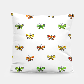 Imagen en miniatura de Butterfly Cartoon Drawing Motif  Pattern Pillow, Live Heroes
