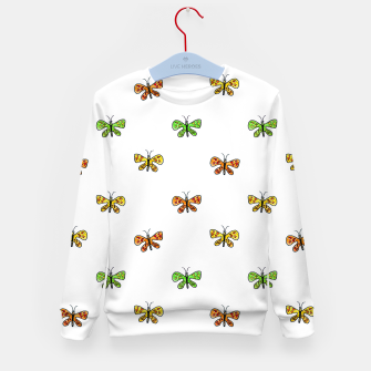 Thumbnail image of Butterfly Cartoon Drawing Motif  Pattern Kid's sweater, Live Heroes